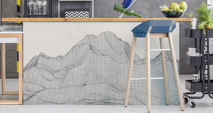 Naklejka góry w 3D