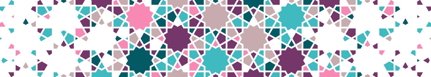 Naklejka gwiazdy i geometryczna tekstura