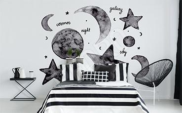 Naklejka gwiazdy i księżyc do sypialni