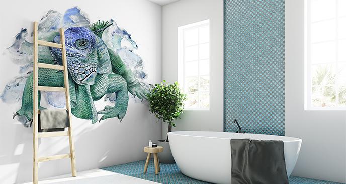 Naklejka iguana do łazienki