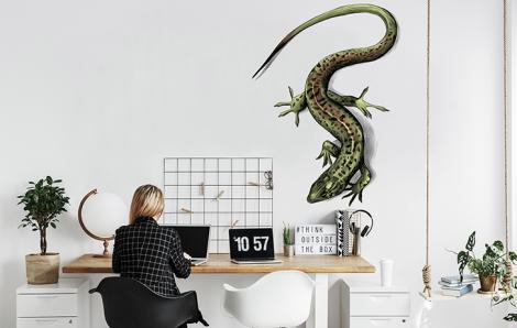Naklejka jaszczurka do biura