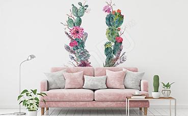 Naklejka kaktusowa kompozycja