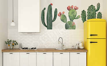 Naklejka kaktusy do nowoczesnej kuchni