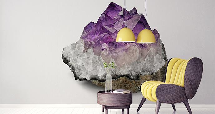 Naklejka kamienie: ametyst