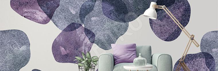Naklejka kamienie w odcieniach fioletu
