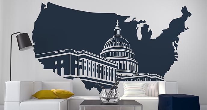Naklejka Kapitol Stanów Zjednoczonych