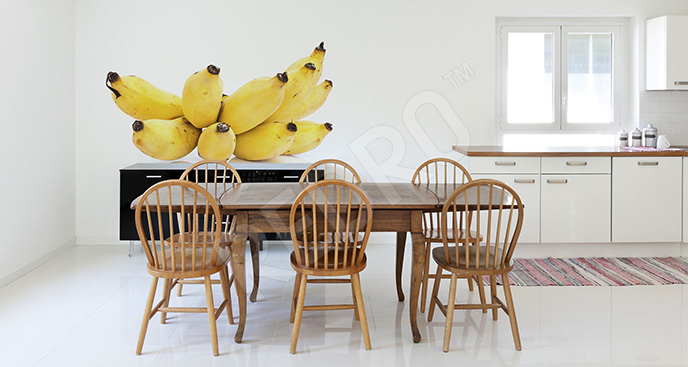 Naklejka kiść bananów