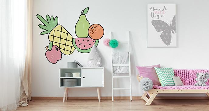 Naklejka kolorowe owoce