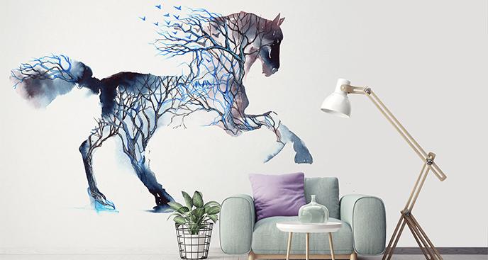 Naklejka koń artystyczny