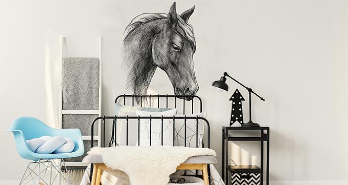 Naklejka koń do sypialni