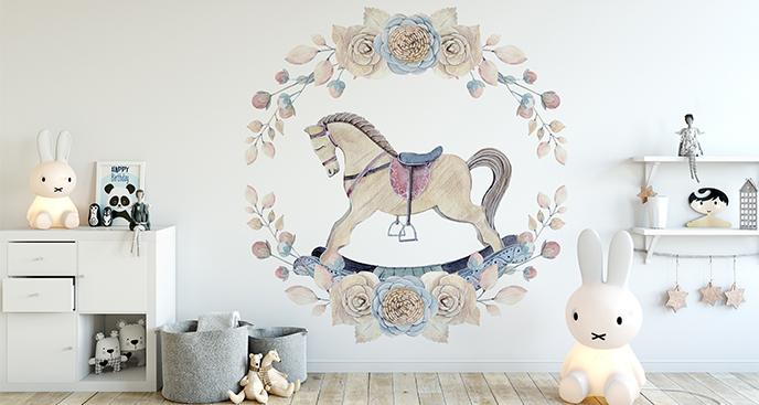 Naklejka koń na biegunach