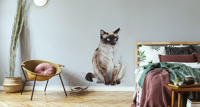 Naklejka minimalistyczne koty