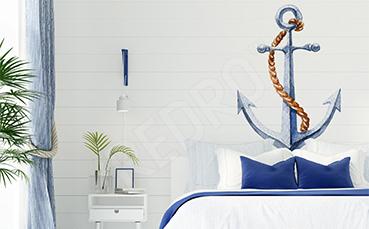 Naklejka kotwica do marynistycznej sypialni