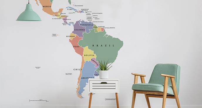 Naklejka kraje Ameryki Południowej