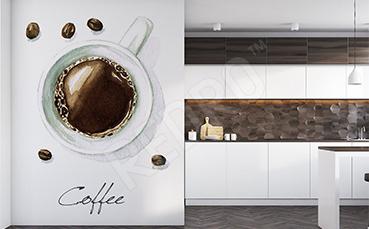 Naklejka kuchenna: filiżanka kawy