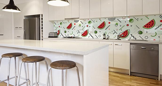 Naklejka kuchenna z arbuzami