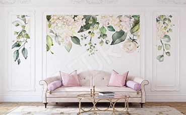 Naklejka kwiatowy wzór do salonu