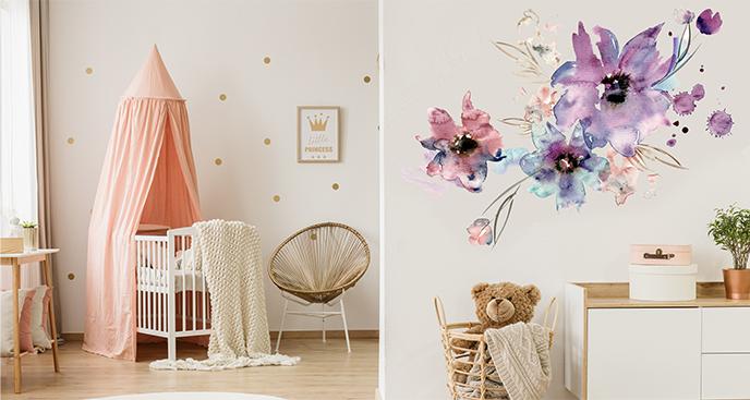 Naklejka kwiaty do pokoju dziecka