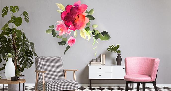 Naklejka kwiaty do salonu