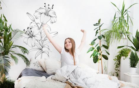 Naklejka kwiaty Lilii do sypialni