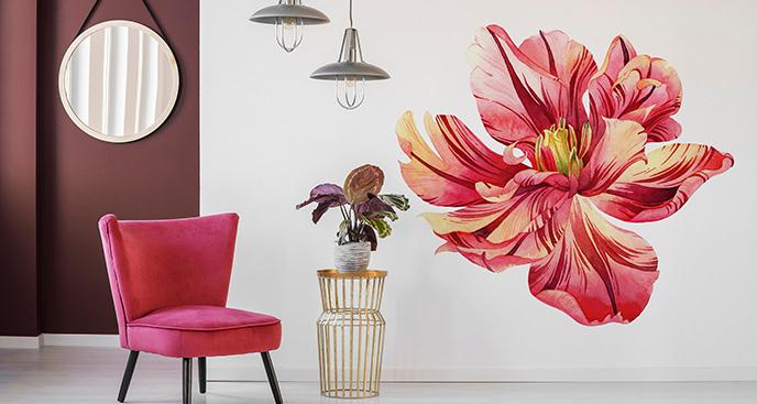 Naklejka kwitnący tulipan