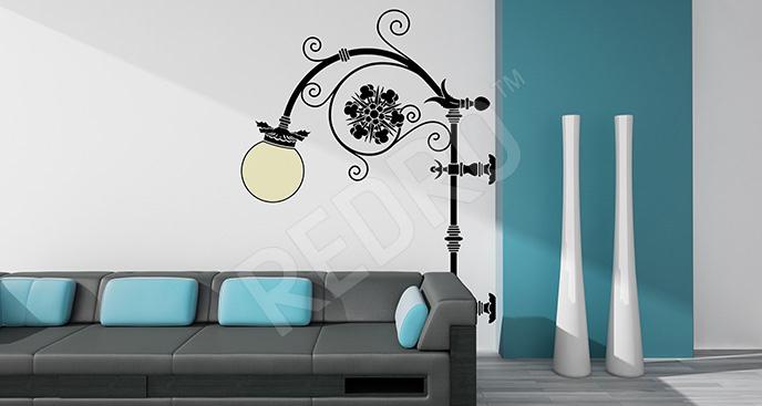 Naklejka latarnia art deco