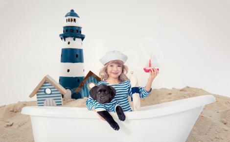 Naklejka latarnia morska dla dzieci