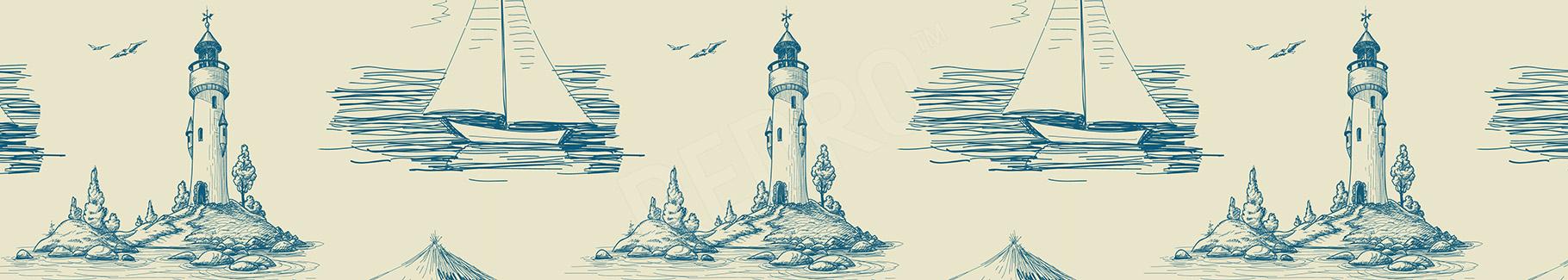 Naklejka latarnia na wyspie