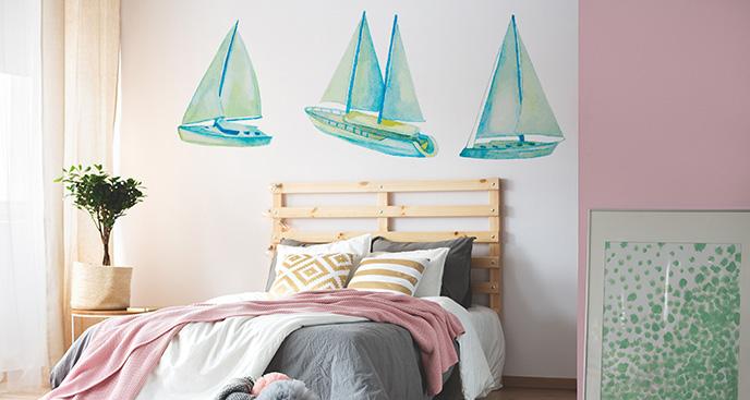 Naklejka łodzie żaglowe