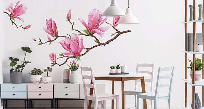 Naklejka magnolia do jadalni
