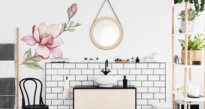 Naklejka magnolia do łazienki