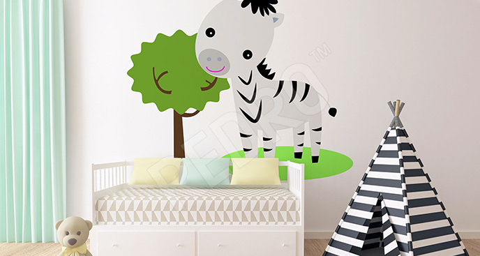 Naklejka mała zebra dla dzieci