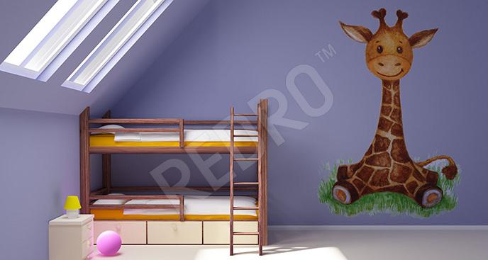 Naklejka mała żyrafa dla dzieci