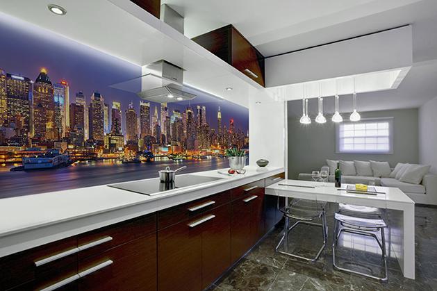 Naklejka - Manhattan w nocy