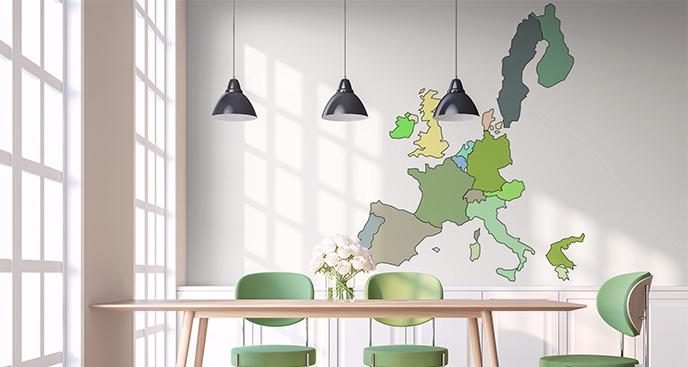 Naklejka mapa polityczna Europy