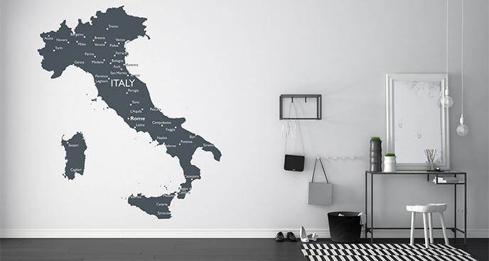 Naklejka mapa polityczna Włoch