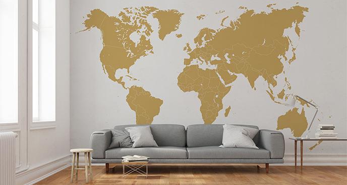 Naklejka mapa świata do salonu