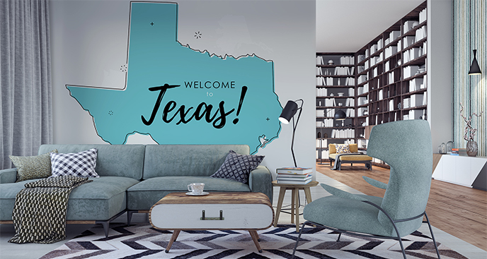 Naklejka mapa Teksasu