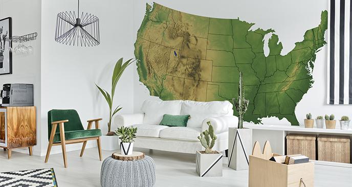 Naklejka mapa terenowa USA