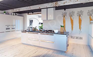 Naklejka marchewki do kuchni wegetarian