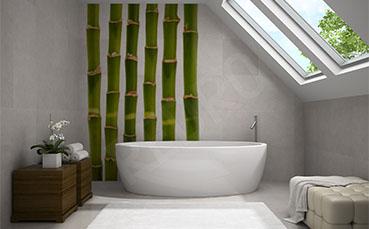 Naklejka minimalistyczna bambus