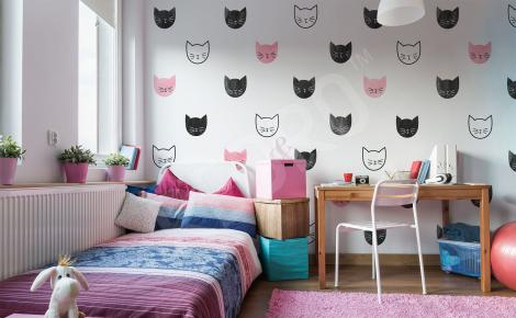 Naklejka minimalistyczna z kotami