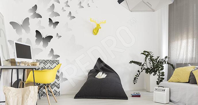 Naklejka młodzieżowa z motylami