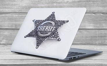 Naklejka na laptopa gwiazda szeryfa