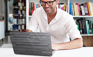 Naklejka na laptopa tekstura 3D