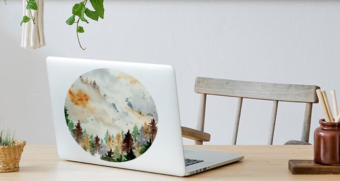 Naklejka na laptopa w akwareli