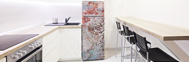 Naklejka na lodówkę kolorowa abstrakcja