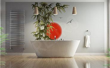 Naklejka na ścianę bambus do łazienki