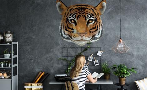 Naklejka na ścianę z podobizną tygrysa