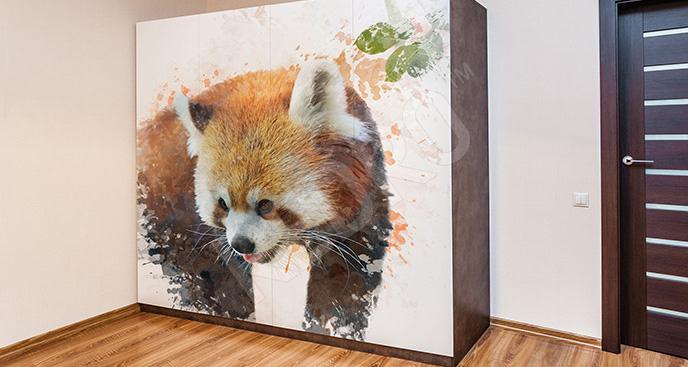 Naklejka na szafę panda
